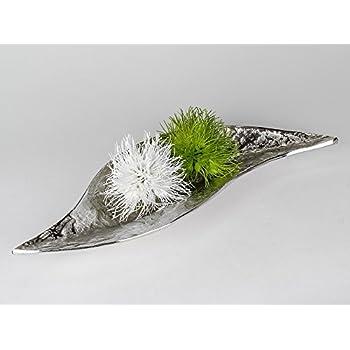 Edle Wohnaccessoires amazon de aluminium schale 50 cm organic silber antik optik edle