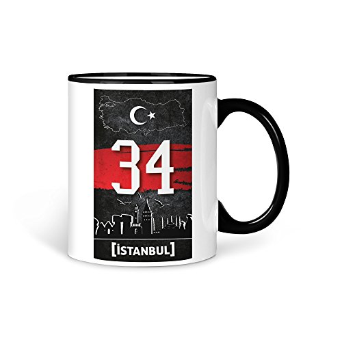TASSE Kaffeetasse Türkei Istanbul 34 Türkiye Plaka V2