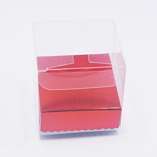 HangQi 100x transparente PVC plástico cubo caja