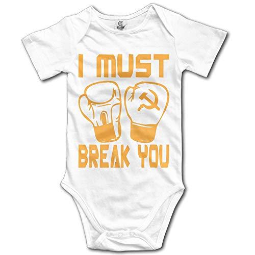 CrownLiny I Must Break You Infant Graphic Print Short Sleeve Baby Romper Onesie Jumpsuit (Tigers Billig Onesies)