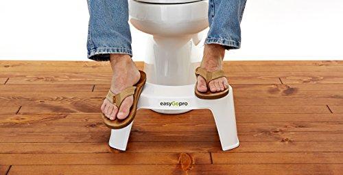 Easygopro m egp sgabello ergonomico per wc plastica bianco