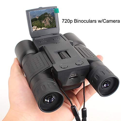 WYLOKEN - Prismáticos de Zoom Digital para cámara de vídeo al Aire Libre, telescopio, cámara de Caza, Negro