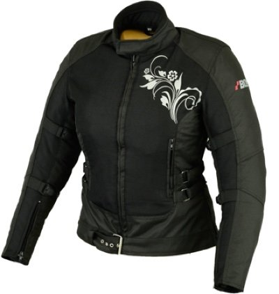 Bikerkombi Zweiteiler Für Damen Motorradkombi Schwarz (M)