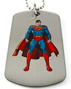 Superman Man of Steel Dog Tag & Chain Necklace by DC Comics