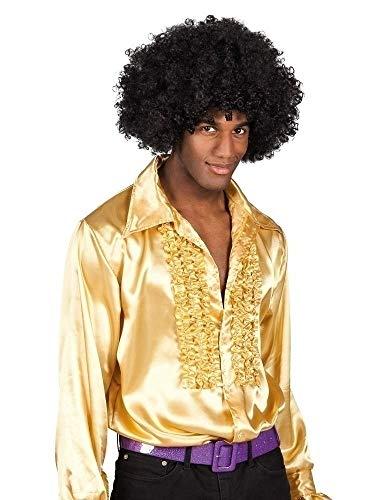 Gold Disco Fever Kostüm - Boland Hemd, Farbe Gold,