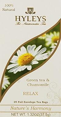 Hyleys RELAX Green Tea & Chamomile 1.32 oz / 25 teabags