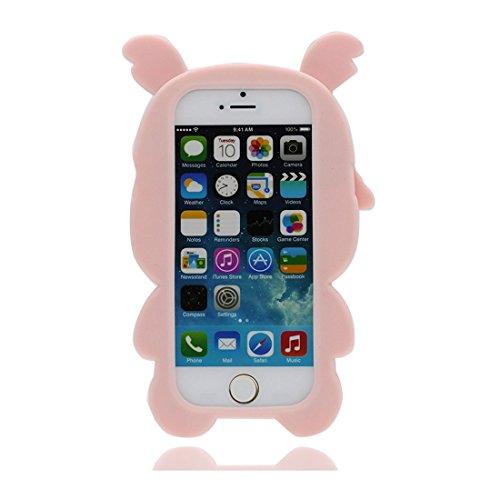 iPhone 5 5s SE 5C Custodia, Nuova Stitch + maiale Cartoon 3D Design Paraurti TPU morbido Case Silicone di gomma Shell Cover copertura per iPhone 5 5S SE 5C 5G Anti-graffi antiurto, Pig * 2