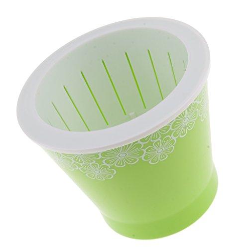 non-brand MagiDeal Mini Blumentopf Self-Bewässerung aus Plastik - Grün, S