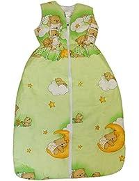 """DAS ORIGINAL BOMIO® Baby Winter-Schlafsack """"Bärchen (Grün)"""", Öko-Tex Standard 100, Größen von """"70 cm bis 110 cm"""""""