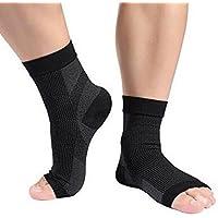 SiaMed Fersensporn Kompressionssocken für Männer und Frauen – Knöchelbandage zur Linderung von Fuß- und Knöchelschmerzen – Unterstützung bei Plantar Fasciitis und Fersensporn (L/XL)