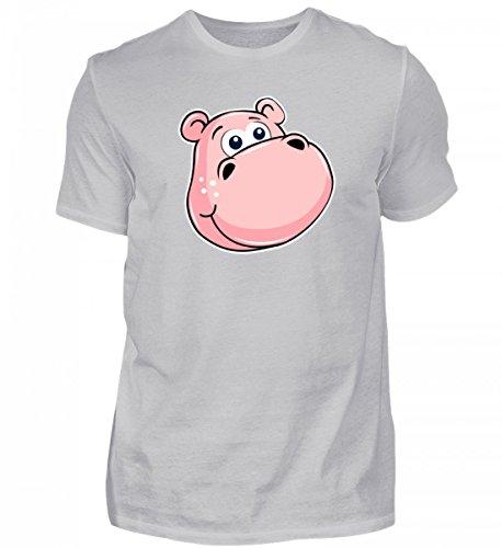 Hippo Kostüm Baby - Hochwertiges Herren Organic Shirt - Rosa Nilpferd Mit Grossen Augen - Zoo Hippo Tierbaby Flusspferd Streichelzoo Kuscheltier