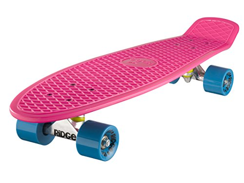 Ridge Skateboard Big Brother Nickel 69 cm Mini Cruiser, rosa/blau