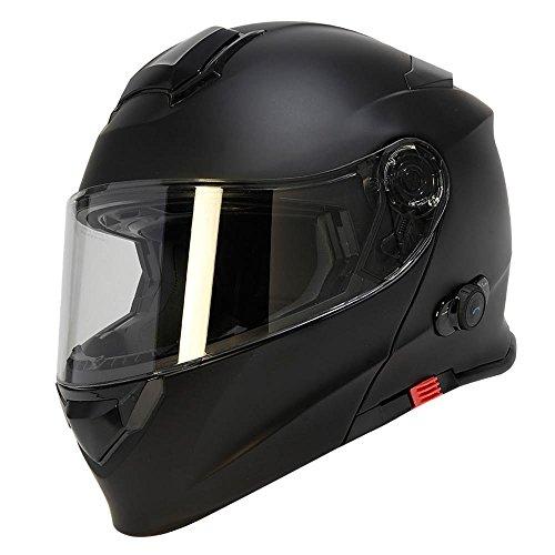 TORC T28B - Casco de moto integrado, Bluetooth, color negro mate, tall