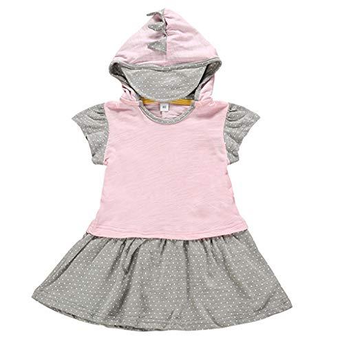squarex ® Mädchen Cartoon T-Shirt Kinder Kapuzenoberteile Kleinkinder Kurzarm Hoodie Baby Freizeitoberteile Junge Bequeme Kleidung -