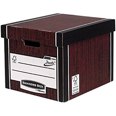 Fellowes R-Kive Premium Presto - Caja de archivo grande, color marrón