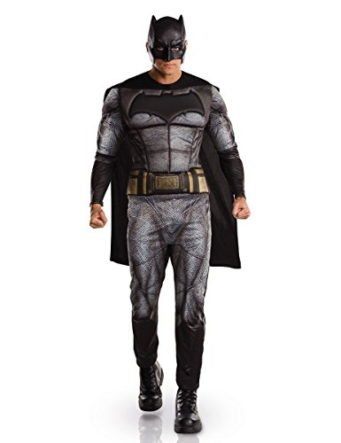 DC Comics Batman Dawn of Justice Kostüm Deluxe Lizenzware grau-schwarz M / (Comics Kostüme Dc)