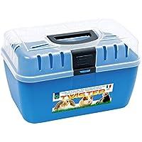 Georplast 10575 Trasportino per roditori e Piccoli Animali Travel Made in Italy. Media Wave Store ® (Azzurro)