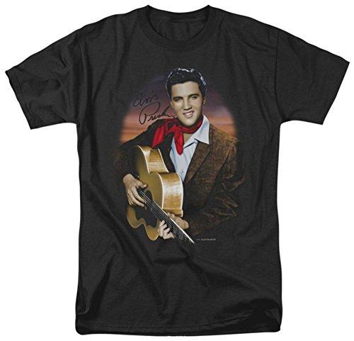 Elvis Presley el rey Rock rojo bufanda # 2adultos camiseta Tee