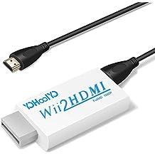YOHOOLYO WII HDMI Adapter WII zu HDMI Konverter WII Signal automatisch auf 720p/ 1080p und HDMI-Anschluss / 3,5 mm Klinke Ausgang aus mit HDMI Kabel