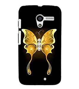 Fuson Designer Back Case Cover for Motorola Moto X :: Motorola Moto X (1st Gen) XT1052 XT1058 XT1053 XT1056 XT1060 XT1055 (The golden butterfly)
