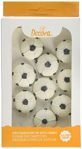 Decora - Decorazioni Di Zucchero Palloni Da Calcio, 1 Confezione Da 9 Unità