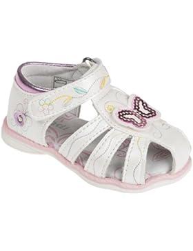 Sandaletten für Babys und Kleinkinder, mit Lederfußbett, weiß, Gr. 19-24