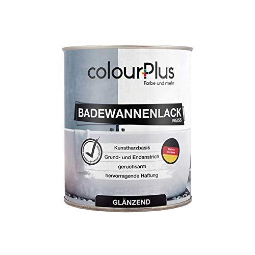 colourPlus Badewannenlack (750ml, Weiß) 1K - glänzender Badewannenlack weiß - Lack für Badewanne - Emaille Farbe - Badewannen Farbe - Made in Germany