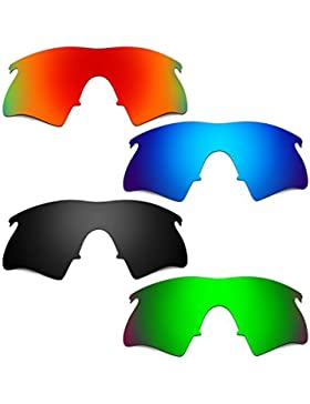 Hkuco Plus Mens Replacement Lenses For Oakley M Frame Heater Red/Blue/Black/Emerald Green Sunglasses