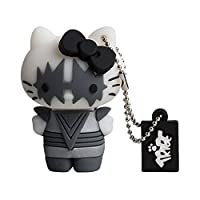 Tribe Hello Kitty KISS Pendrive Figure 8 GB Funny USB Flash Drive 2.0 Memory Stick Data Storage, Keyholder Key Ring, Spaceman, Grey/White