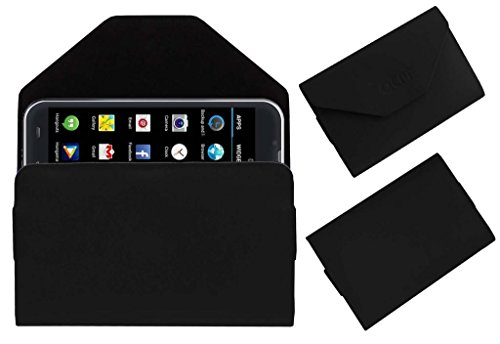 Acm Premium Pouch Case For Iball Andi 5-E7 Flip Flap Cover Holder Black  available at amazon for Rs.179