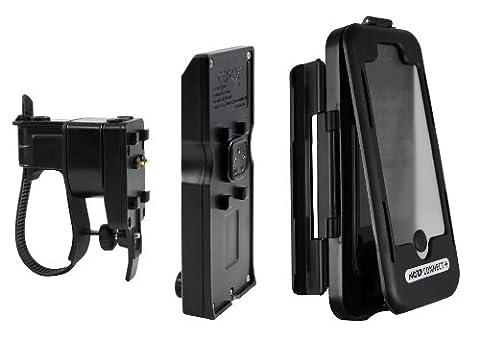 NC-17 connect spritzwassergeschützte Lenkerhalterung für Smartphone und Handy / für Apple iPhone 5/5S/5C und iPhone SE (Handyhülle mit Fahrradhalterung und Zusatzakku)