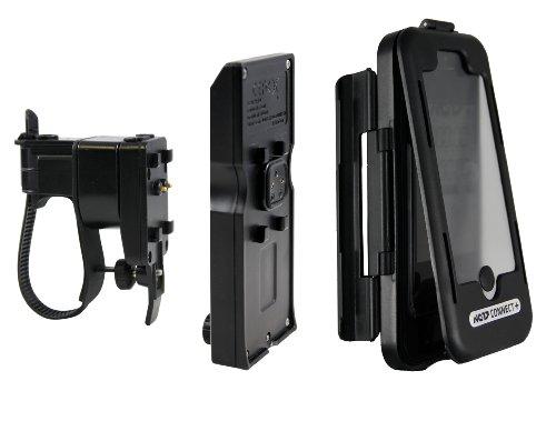 NC-17 Connect spritzwassergeschützte Lenkerhalterung für Smartphone und Handy/für Apple iPhone 5/5S/5C und iPhone SE (Handyhülle mit Fahrradhalterung und Zusatzakku)