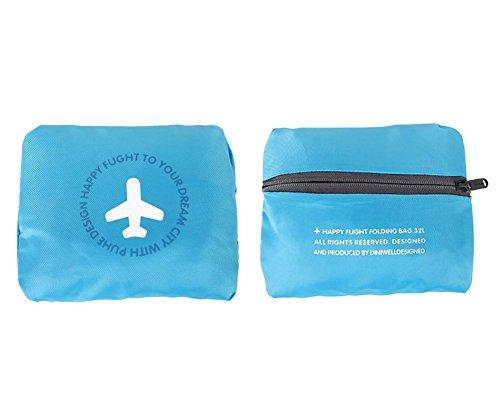 Damara® Unisex Wasserdicht 130 Große Kapazität Tragbare Folding Aufbewahrungstasche,Rosa