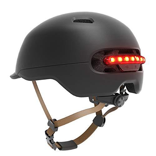 Casco da bicicletta per bicicletta da uomo, donna, da bici, casco per bici, luce posteriore a led per moto scooter Black