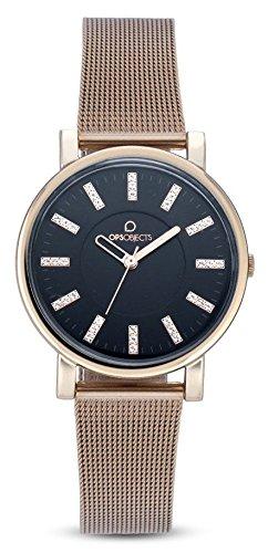 OPS reloj POSH Lux Cristal Negro Oro Rosa OPSPOSH-79