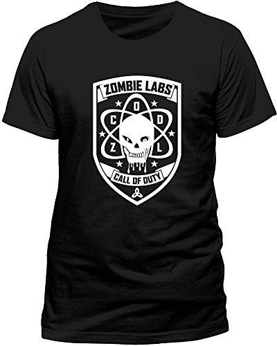Beats & More Herren Call of Duty-Zombie Labs Unisex T-Shirt, Schwarz, X-Large Zombie Lab