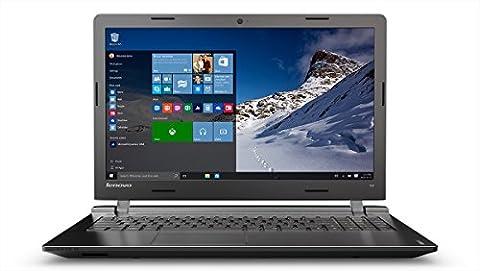Lenovo ideapad 100 39,62 cm (15,6 Zoll HD) Notebook (Intel Pentium N3540 Quad-Core Prozessor, 2,66 GHz, 8GB RAM, 1TB HDD, Intel HD Grafik, DVD-Brenner, kein Betriebssystem) schwarz