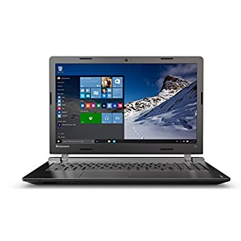 Lenovo ideapad 100 39,62 cm (15,6 Zoll HD) Notebook (Intel Pentium N3540 Quad-Core Prozessor, 2,66 GHz, 8GB RAM, 1TB HDD, Intel HD Grafik, DVD-Brenner, kein Betriebssystem) schwarz