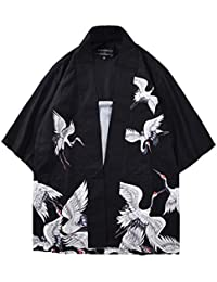 nuovo arrivo 16362 fd4ef kimono uomo - Camicie / T-shirt, polo e camicie ... - Amazon.it