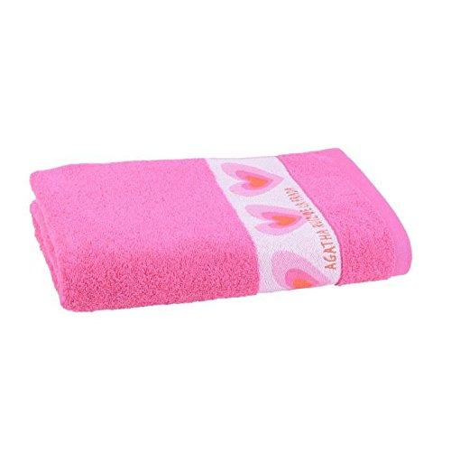 Agatha Ruiz De La Prada Lot de 2 draps de bain 70x140cm (rose)