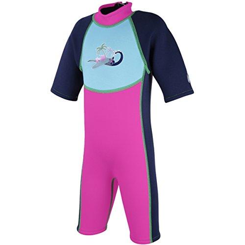 Splash About Kinder Shortie-Schwimmanzug, Rosa, M (2-4 Jahre), SWSFP2