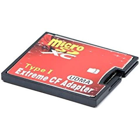 QUMOX micro SD a CF Tarjeta Compact Flash Memory Lector Adaptador Tipo 1 WIFI
