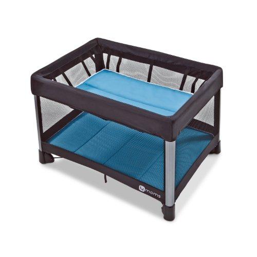 4moms Breeze - Cuna de viaje, color azul y negro by 4moms - Cunas.net