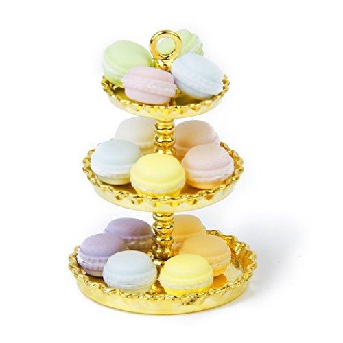 Nalmatoionme 1: 12casa delle bambole a strati, supporto per dessert in metallo (oro)