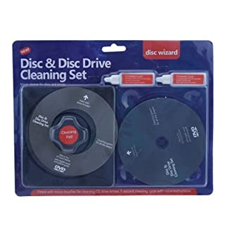 Schone Gadgets H-28146 Ardisle CD DVD Disc Drive Cleaner Cleaning Set Fluid Laser Lens Laptop Computer Wii Xbox