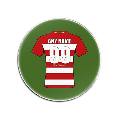 UniGift - Set von 4 Gloucester Gloucester Gloucester Untersetzer aus Hartfaserplatte (Rugby Union Design, Farboptionen) - jeder Name/Nachricht auf Ihrem einzigartigen Pad -, grün, Rund