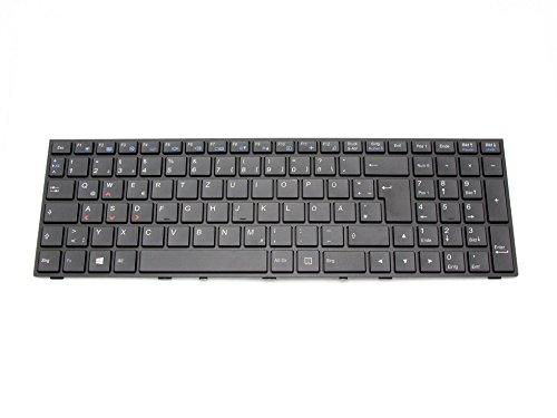 IPC-Computer Tastatur DE (deutsch) schwarz/schwarz matt mit Backlight Original für Schenker XMG P705 Serie