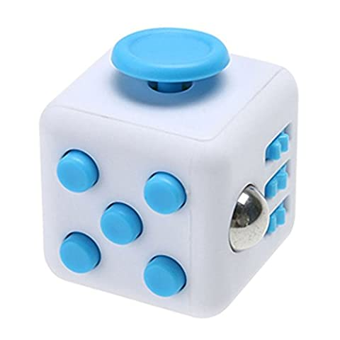 SanWay Fidget Toy Cube Toy Anxiety Attention Stress Relief Stocking stuffer Relieves Stress Blue