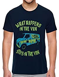 The Upmarket Store What Happens In The Van Stays In The Van - The Mystery Men's Premium Imported Dark Blue T-Shirt...