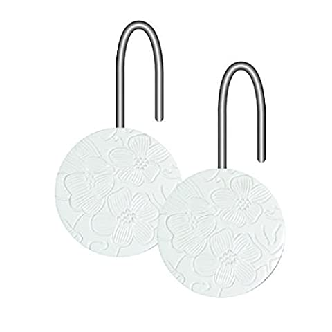 Aquasanit A100620IMP000 Art Flora Crochets pour Rideaux En Paquet de